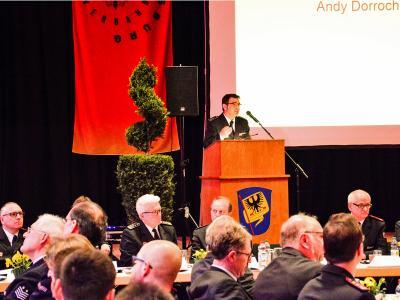 Kreisbrandmeister Andy Dorroch berichtet über Aktivitäten im Jahr 2017
