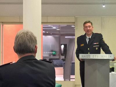 Der KFV-Vorsitzende Klaus Haug begrüßt alle Gäste.