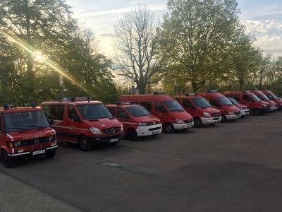 Feuerwehrangehörige aus dem ganzen Landkreis kamen nach Markgröningen