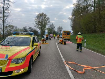 H4 VU 1 Person eingeklemmt LKW - L1115 AS Mundelsheim >> Großbottwar - 12.04.2019