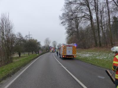 H1 VU Unklare Lage - L 1115 AS Mundelsheim >> Großbottwar - 09.02.2018