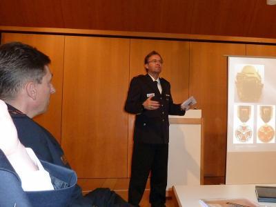 Markus Giek referiert über Ehrungen.