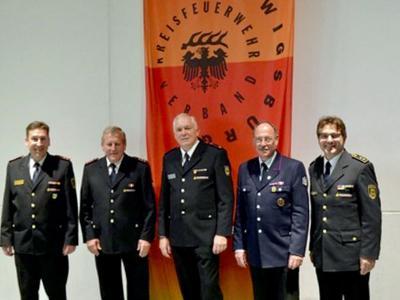 v.l. Klaus Haug, Hans Vogt, Thomas Bayha, Peter Henger, Andy Dorroch.